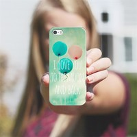 I love you to the moon and back iPhone 5s case by Sylvia Cook | Casetify