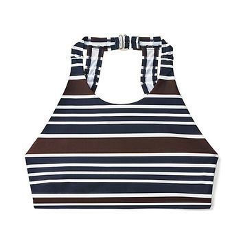 Tory Burch High-neck Stripe Top
