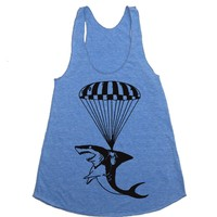 Shark Workout Tank - Funny Tanktop - Workout Clothes For Women - Running Tank - Run Tank Top - Run Shirt - Gym Tank Top