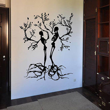 Tree skeletons Halloween Kids Room Children Stylish Wall Art Sticker Decal 7862
