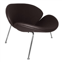 Slice Chair Dark Brown Leather
