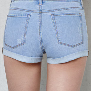 PacSun Pattie Blue Super Stretch High Rise Denim Shorts at PacSun.com