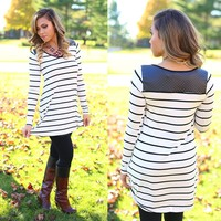 Saturday Striped Tunic