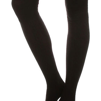 Over The Knee Boot Socks Black