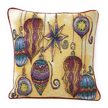 "DaDa Bedding Colorful Boho Ornaments Throw Pillow Cover Tapestry Cases 16"" x 16"" (14916)"