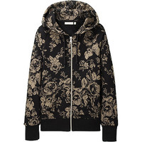WOMEN CABBAGES & ROSES SWEAT FULL ZIP LONG SLEEVEHOODIE