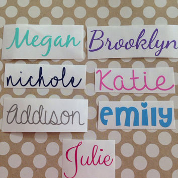 Any word decal personalized name decal various font decals customized decal word