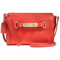 COACH SWAGGER WRISTLET IN PEBBLE LEATHER | macys.com