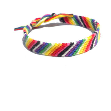 Handmade Bracelet - Stripped Rainbow