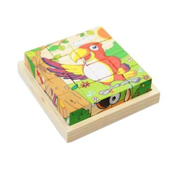 Educational Toy for Kids 3D Wooden Puzzle Jointed Board Cube Puzzle Building Block NO.08