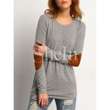 Elbow Patch Loose T-Shirt