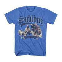 Sublime Men's  Kneeling Photo Slim Fit T-shirt Heather Light