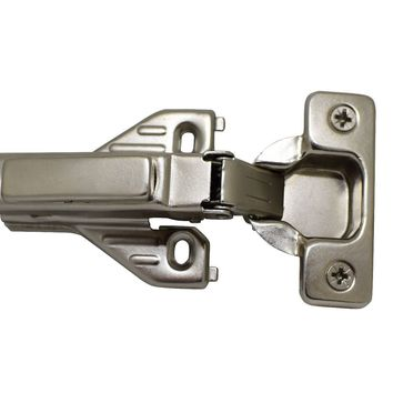 110 Full Overlay Concealed Clip On Hinge Soft Closing with Base Plate for Face Frame and Frameless