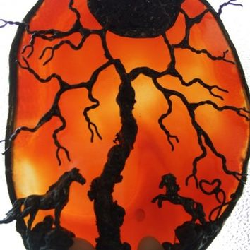 FLAMMING BEAUTY -- Red Tree of Life Horse Agate