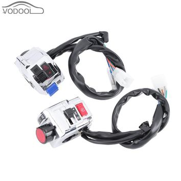 2Pcs Motorcycle Handlebar Grip Left Right Switch Assembly Moto Handle Bar Headlight Fog Lamp Light Button Switches for YAMAHA