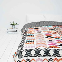 Wonky Geometric Print Quilt - Urban Outfitters