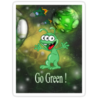 Go Green alien monster in space by MNA-Art