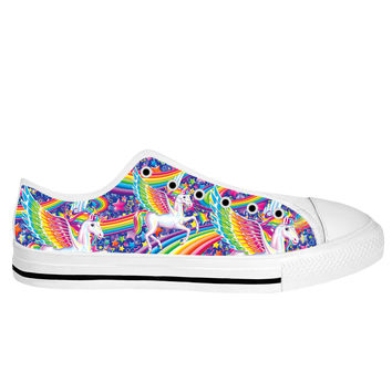 Lisa Frank Skye White Sole Low Tops