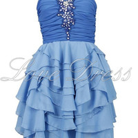 Cute Sweetheart Mini Ruffle Prom Dress/Homecoming Dress