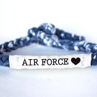 Air Force Customizable Military Bracelet - Army, Marines, Navy, Soldier Wife, Girlfriend, Fiance (women, teen girl)