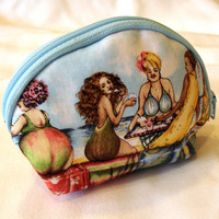 Coin Purse With Fruit Ladies Small by uniquelynancy on Etsy