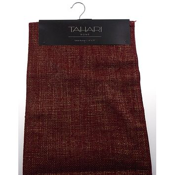 """Kitchen Table Runner Tahari Home Red Gold 14""""x72"""" Party Wedding Banquet Decor"""
