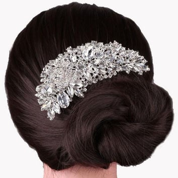 Boutique Bridal Wedding Flower Hair Comb