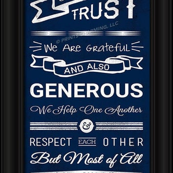 "Columbus Blue Jackets Family Cheer Print 8""x24"""