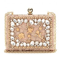 Dolce & Gabbana CRYSTAL-EMBELLISHED LACE BOX CLUTCH