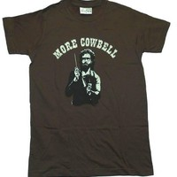 More Cowbell SNL Will Ferrell TV show T-Shirt Tee Select Shirt Size: X-Large