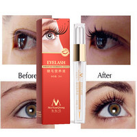 Herbal Powerful Makeup Eyelash Growth Treatments Liquid Serum Enhancer Eye Lash Longer Thicker Better than Eyelash Extension