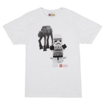 LEGO Star Wars Stormtrooper AT-AT Logo Licensed Adult Unisex T-Shirts - XL