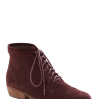 Dolce Vita Performance Poet Bootie in Deep Burgundy | Mod Retro Vintage Boots | ModCloth.com