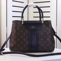 "LV ""Louis Vuitton"" New Style Women Leather Satchel Shoulder Bag Handbag Crossbody I"