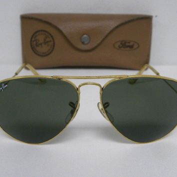 Cheap Vintage B&L Ray Ban Large Metal 58mm Gold G-15 Aviator Sunglasses outlet