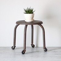industrial caster stool by AMradio on Etsy
