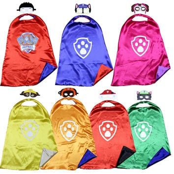 PAW - Cape and Mask Set Patrol Costume  kids birthday party favor Halloween kids cosplay  dog paw cape