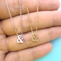 Ampersand, Necklace, AMPERSAND, Jewelry, Friendship, Best, Friend, Jewelry, Sign, Necklace, Ampersand, Sign, Pendant, Cute, Simple, Dainty