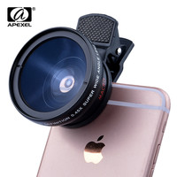 New HD 37MM 0.45x Super Wide Angle Lens with 12.5x Super Macro Lens for iPhone 6 Plus 5S 4S Samsung S6 S5 Note 4 Camera lens Kit