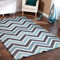 Mybecca Collection Grey Area Rug 5'x7' + Free Shipping