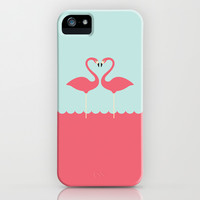 flamingo couple iPhone & iPod Case by aBONNYday