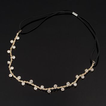 Free Shipping Hair Accessories crystal chain charms head bands women jewelry Wedding bridal hair jewelry H008