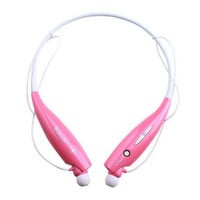 22Pink Bluetooth Wireless Headset Stereo Headphone Earphone Sport Handfree
