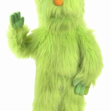 30`` Green Monster Puppet, Full Body Ventriloquist Style Puppet