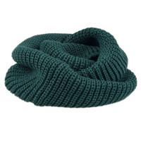 Olive Green Knit Funnel Scarf