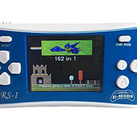 """E-MODS GAMING 2.5"""" LCD Portable Handheld Video Game Console w/Speaker (Blue + White) (3 X AAA) w/162 in 1 Games"""