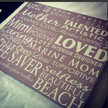 Choose your own - Custom Canvas word art, Gift for her, Gift for him, Song lyrics on canvas