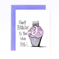 Wish Big - Birthday Card