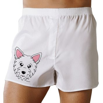 Cute West Highland White Terrier Westie Dog Boxer Shorts by TooLoud