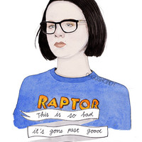 Enid from Ghost World watercolour portrait PRINT Thora Birch Scarlett Johansson